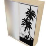 шкаф-купе с фотопечатью пальмы