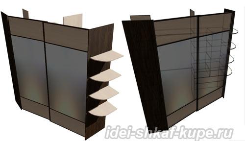 встренный шкаф-купе трехстенка