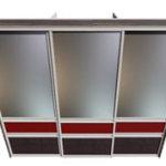 встроенный шкаф-купе с фасадами из кожи