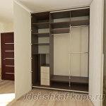 проект шкафа с дверью-гармошкой